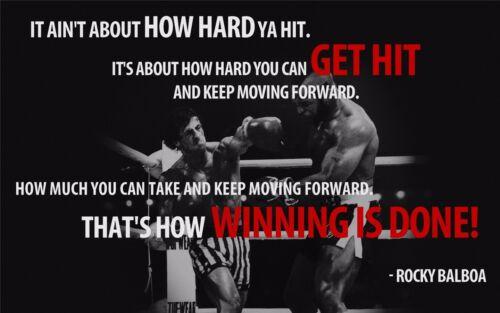 "Rocky Balboa Motivational Quotes Art Silk Wall Poster 21/""x13/"" 003"