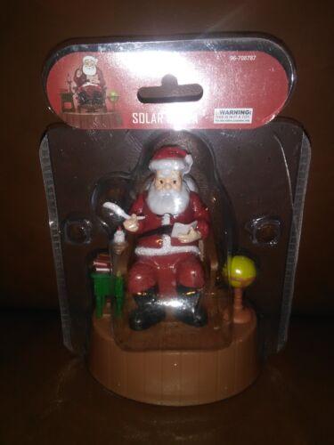Solar Santa Claus in Rocking Chair Christmas Decoration