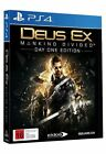 Deus EX Mankind Divided Day One Edition PlayStation 4 Ps4 Australian Stock