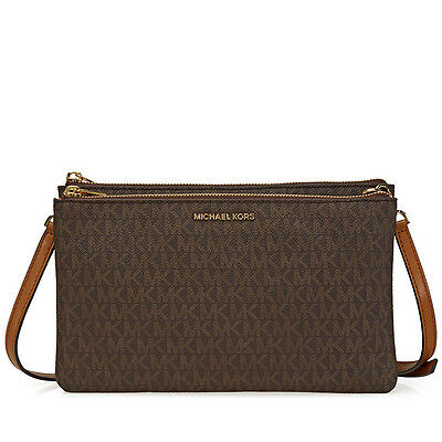 Michael Kors Adele Double Gusset Signature Crossbody - Choose color