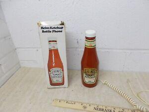 Vintage-Heinz-Ketchup-Bottle-Telephone-w-Box-1984