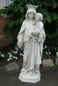 Image Is Loading 42 039 039 Fiberglass Outdoor Garden Statue MARY