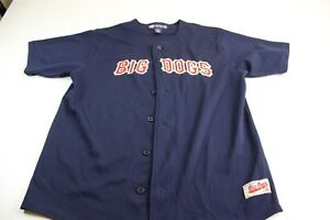 Big-Dogs-Blue-Red-Stitched-Baseball-Jersey-Shirt-Medium-M