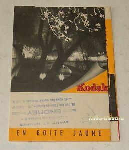 Pochette-photo-KODAK-Appareils-Films-Visuel-Sous-Bois-ENDREY-PARIS