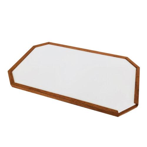 """Echtholz Kante /""""Rimini/"""" Platte 70 x 42 cm Bootstisch Platte weisses Laminat m"""