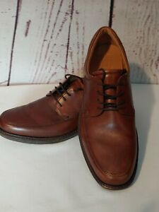ECCO-Mens-Brown-Leather-Dress-Shoes-Size-44-US-10-5-Lace-Up-Oxford