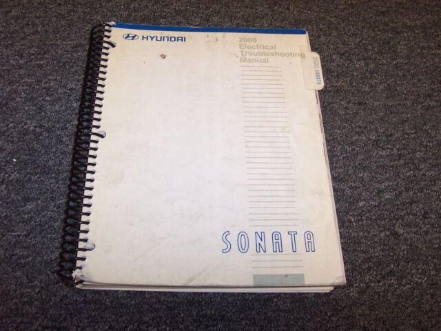 2000 Hyundai Sonata Sedan Electrical Wiring Diagram Manual