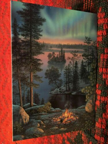 Leanin/' Tree Blank Card Northwoods Theme ID#1400