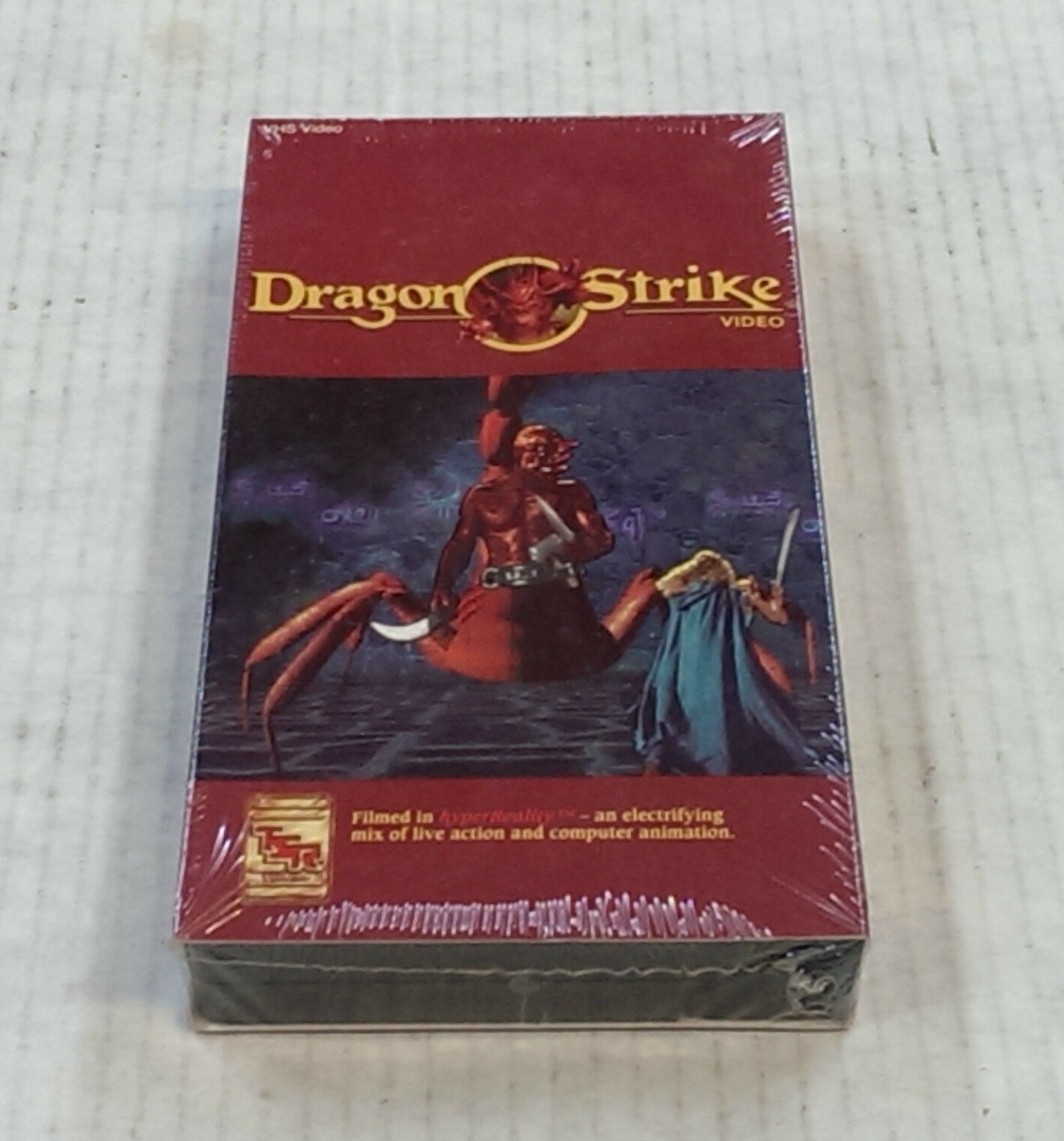 Dragon Strike Board Game VHS Video, TSR 1993 FACTORY SEALED - Very RARE