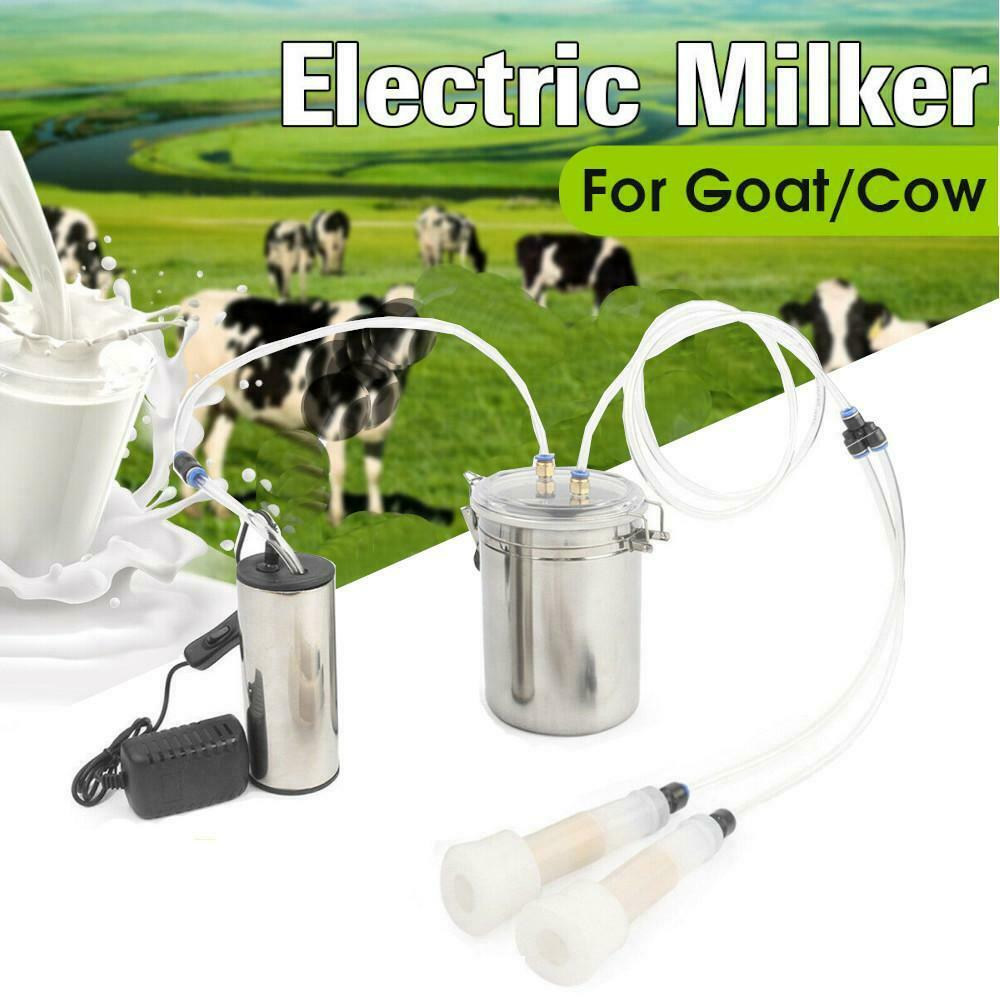 2L Two Teat Milking Machine for Cow Portable Electric Cow Milker