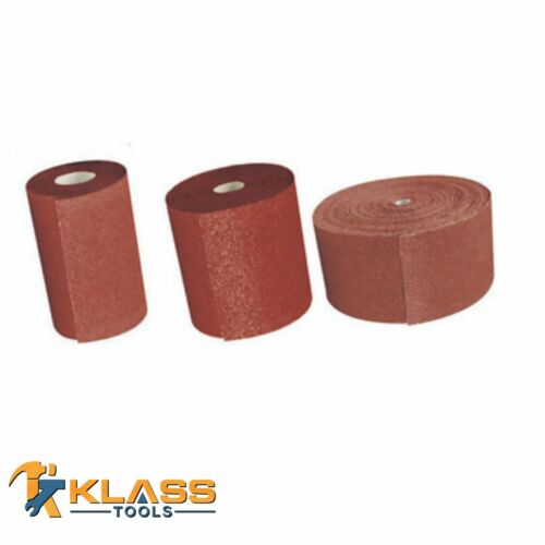 "3/"" Aluminum Oxide Cloth Backed Sandpaper//Sanding Roll Multiple Grits /& Lengths"
