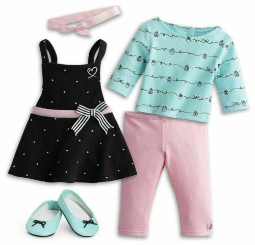 NEW American Girl GRACE/'S BAKING OUTFIT Apron Dress Leggings Flats Tee