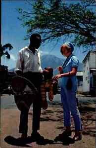 TANSANIA-Afrika-Africa-Post-Card-Ngao-amp-Vibuyu-Seller-Native-Einheimische-AK