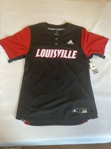 Details about Louisville Cardinals Adidas baseball Jersey Black Red sleeves Size L