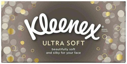 Kleenex Ultra Soft Regular White Tissues 80 per pack x4