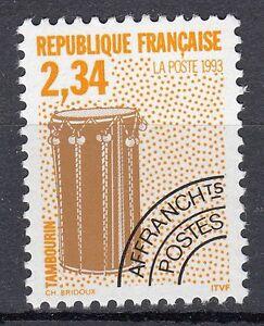FRANCE-TIMBRE-PREOBLITERE-N-229-TAMBOURIN