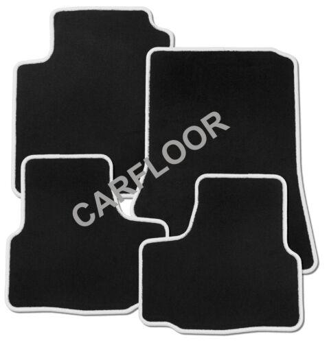 Passend für Toyota MR 2 ab 4.00 Fußmatten Velours schwarz mit Rand weiss