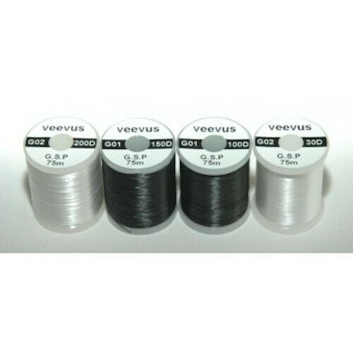 Black//100 Denier Veevus GSP Thread Fly Tying