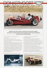 Prospekt D Donkervoort 1990 1 Blatt Autoprospekt Auto PKWs brochure car Auto