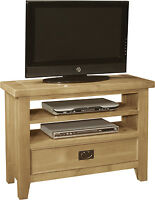 Lyon Solid Oak Furniture Living Room Small Television Cabinet Stand Unit