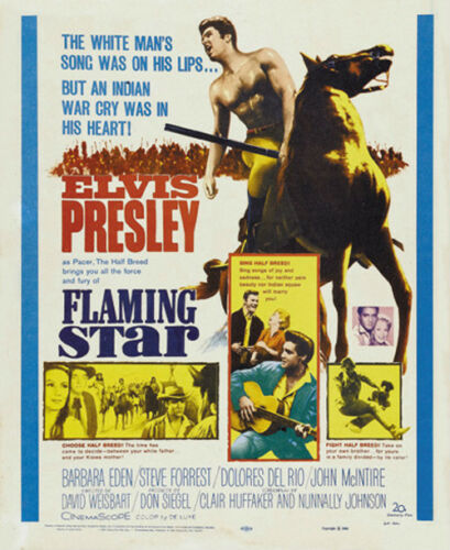 Flaming star Elvis Presley movie poster print