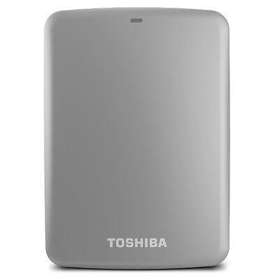 TOSHIBA CANVIO Connect 1TB Portable Hard Drive USB 3.0  PC MAC Silver, NEW BOX