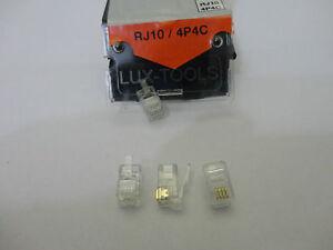 Düwi Lux 4x Netzwerkstecker Telefonstecker RJ12-6P6C