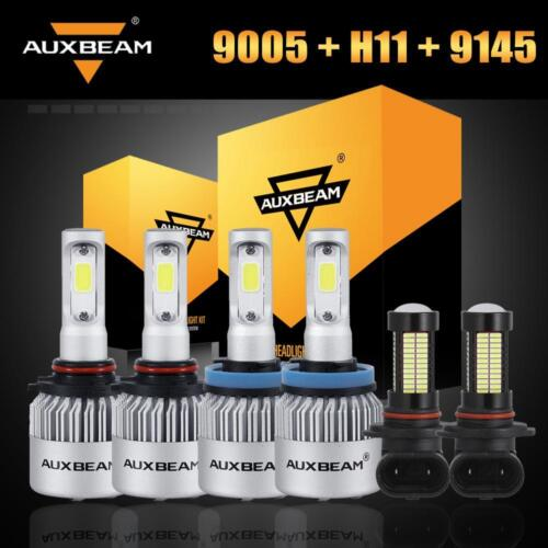 Auxbeam 9005+H11 LED Headlight+H10 9145 Fog Bulbs for Ram 1500 2500 3500 11-2018