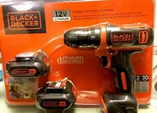 Black & Decker 12V Lithium Cordless Drill with Charger & 2 Batteries - BDCD112