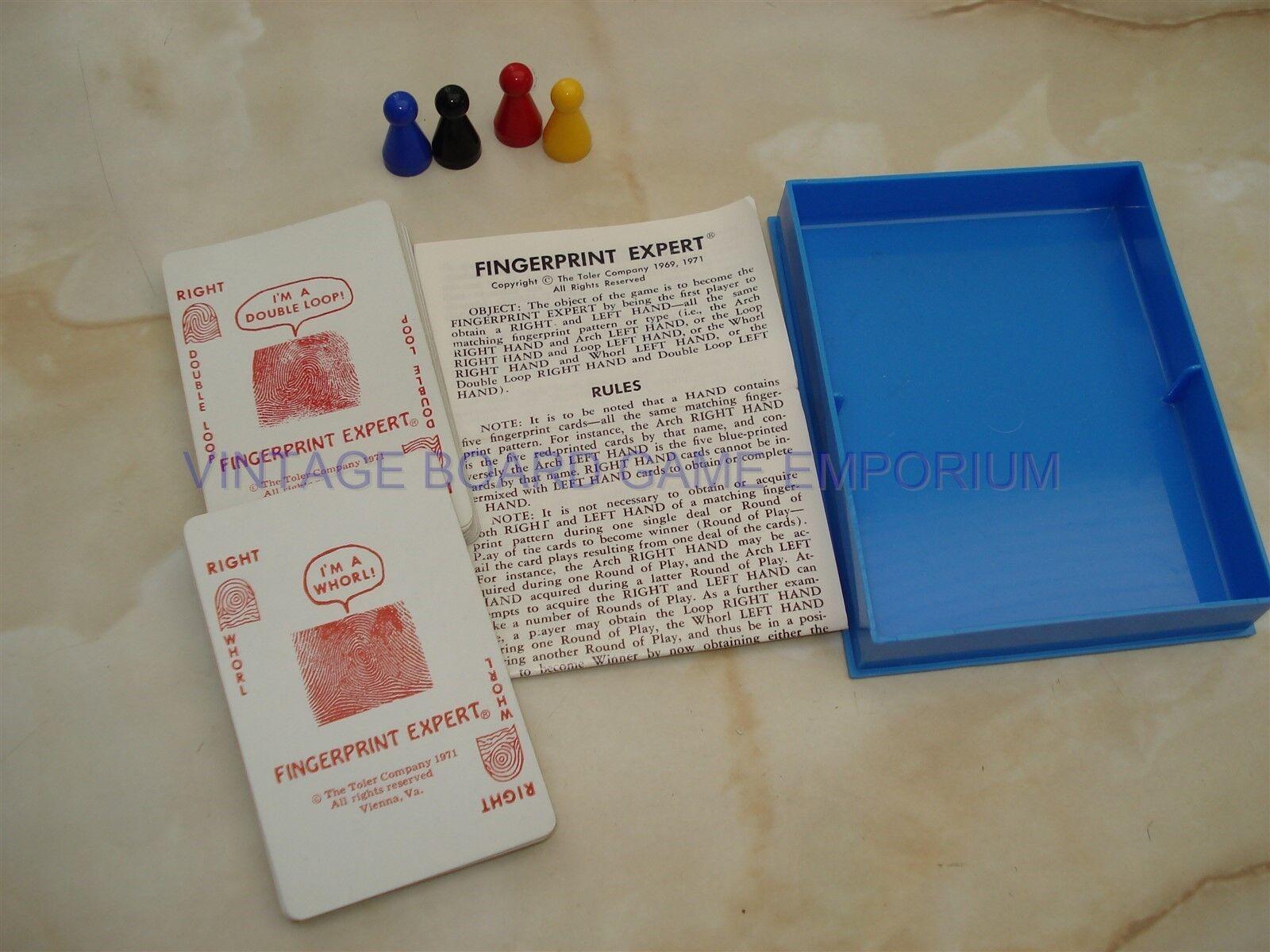 Esperto di impronte digitali-tollerato - 1971-MOLTO RARO-Gioco di esperti di impronte digitali