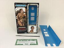 "Custom Star Wars Rotj 12"" Principessa Leila Schiava BOX + inserti"