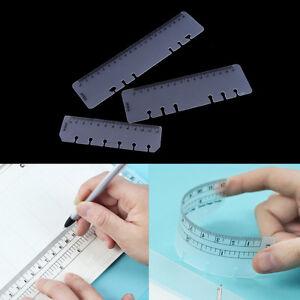 Lineal-A5-A6-A7-PVC-Planer-Agenda-fuer-6-Loecher-lose-Blatt-Spiralen-Notebook-Z-HV