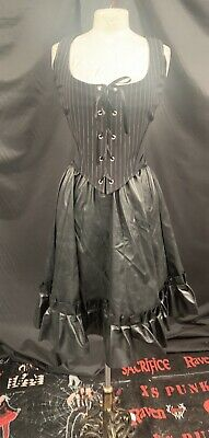 Raven Victorian Gothic Corseted Blouse Size  To Fit Uk 12//14