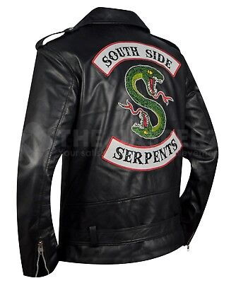 Riverdale Southside Serpents Embroidered Snake Biker Casual Wear Leather Jacket