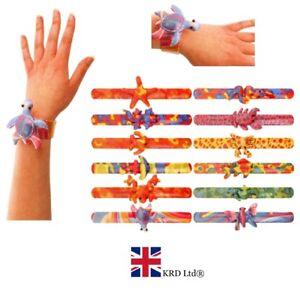 Details About Animal Snap Bracelet Kids Wrist Slap Band Party Bag Toy Pinata Christmas Gift Uk