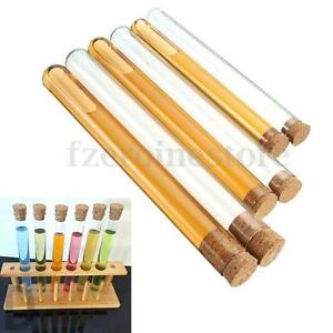 10-Pcs-Lab-Glass-Test-Tube-with-Cork-Stopper-3-Size-20ml-35ml-50ml-NEW