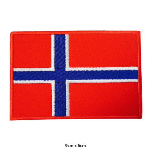 Norway National Flag  Embroidered Patch Iron on Sew On Badge For Clothes Bag etc