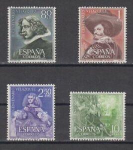 SPAIN-1961-MNH-COMPLETE-SET-SC-SCOTT-983-86-VELAZQUEZ-PAINTINGS