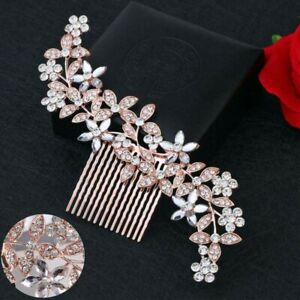 Wedding-Pins-Clips-Hair-Bridal-Diamante-Crystal-Rhinestone-Comb-Accessories
