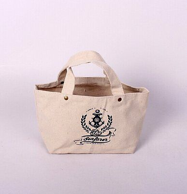 ECO-friendly Zakka Shoulder Storage Shopping Bag Grocery Tote Canvas SNGW031