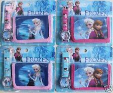 Frozen Watch Wristwatch Purse Childrens Girls Gift Set Party Anna Elsa Birthday
