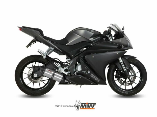 COMPLETE EXHAUST 1X1 MIVV SUONO STAINLESS STEEL-CARBON YAMAHA YZF R125 2014-2018