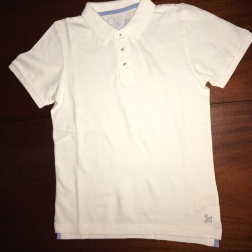 4//5 7//8 or 9//10 Mini Boden White Pique Cotton Polo Shirts