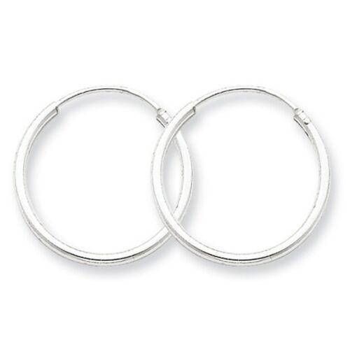 MM !! 60,70,80,90 Pair Of Sterling Silver 925 Hoop Sleeper Earrings