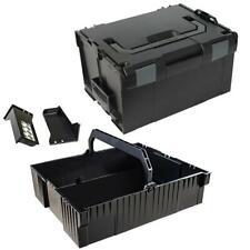Sortimo Systemkoffer L-Boxx 238 schwarz / Industrial Line inkl. Einhängeeinsatz