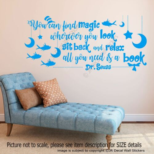 Dr Seuss Magic Citer Amovible Vinyle Wall Art Sticker Nursery Kid/'s Room decal