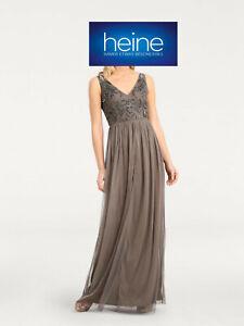 eb414391b011de Das Bild wird geladen Abendkleid-mit-Pailletten-heine-TIMELESS-Taupe-K-Gr-