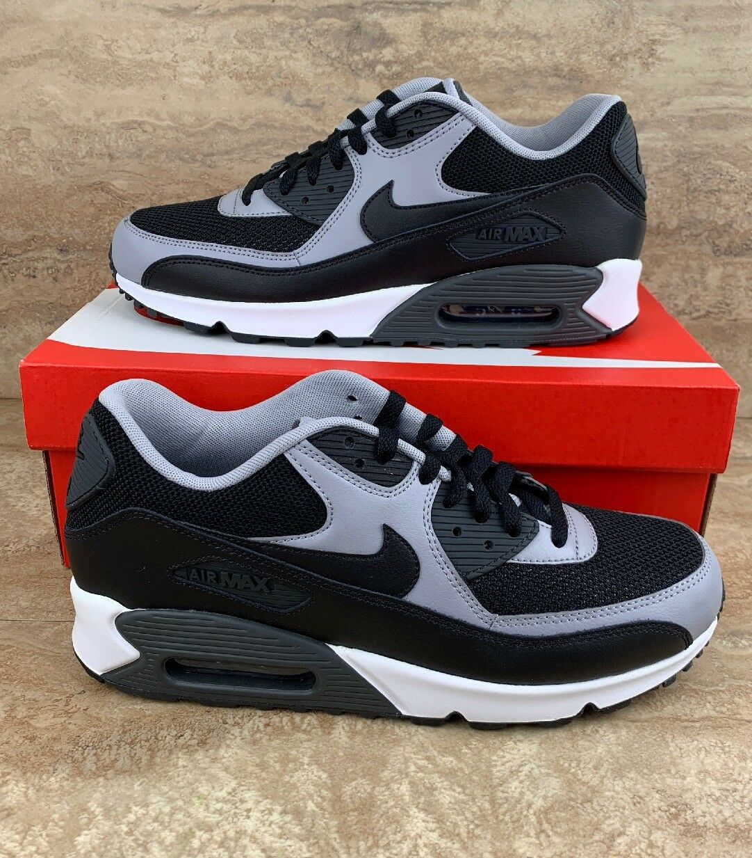 Nike Air Max 90 Essential Men's Running shoes Black Wolf Grey