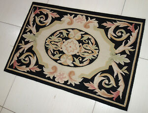 2-039-x-3-039-French-Market-Collection-Black-Beige-Pink-Scroll-Small-Aubusson-Rug-123