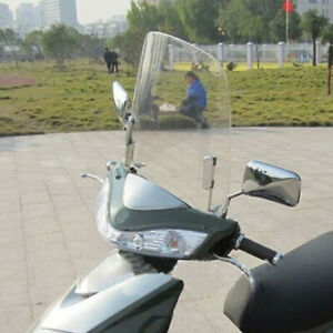1PC Motorcycle Windscreen Scratch Resistant Scooter Windshield Universal Clear